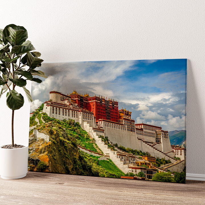 Portala Palast in Tibet Wandbild personalisiert