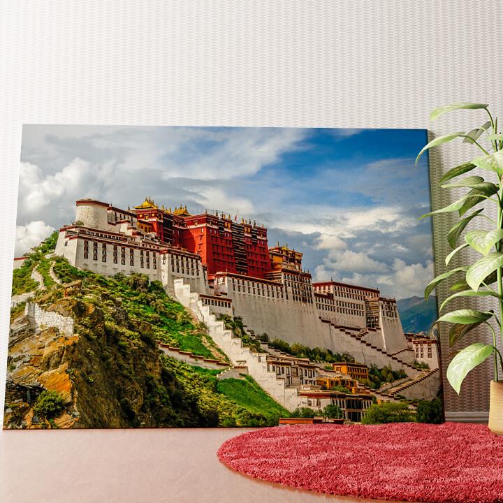 Personalisiertes Wandbild Portala Palast in Tibet