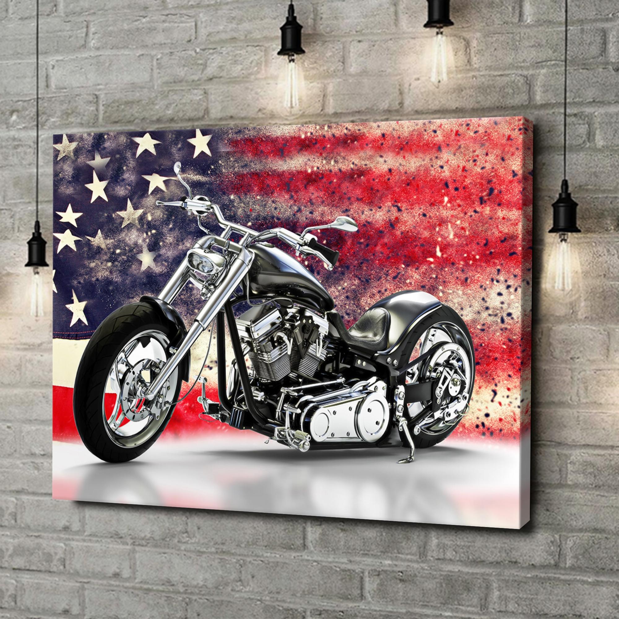 Leinwandbild personalisiert USA Chopper
