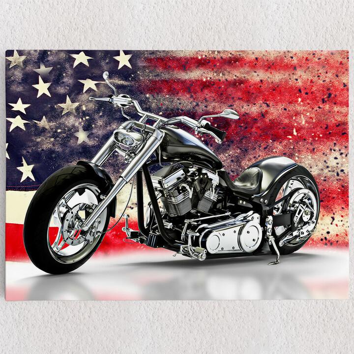 Personalisiertes Leinwandbild USA Chopper