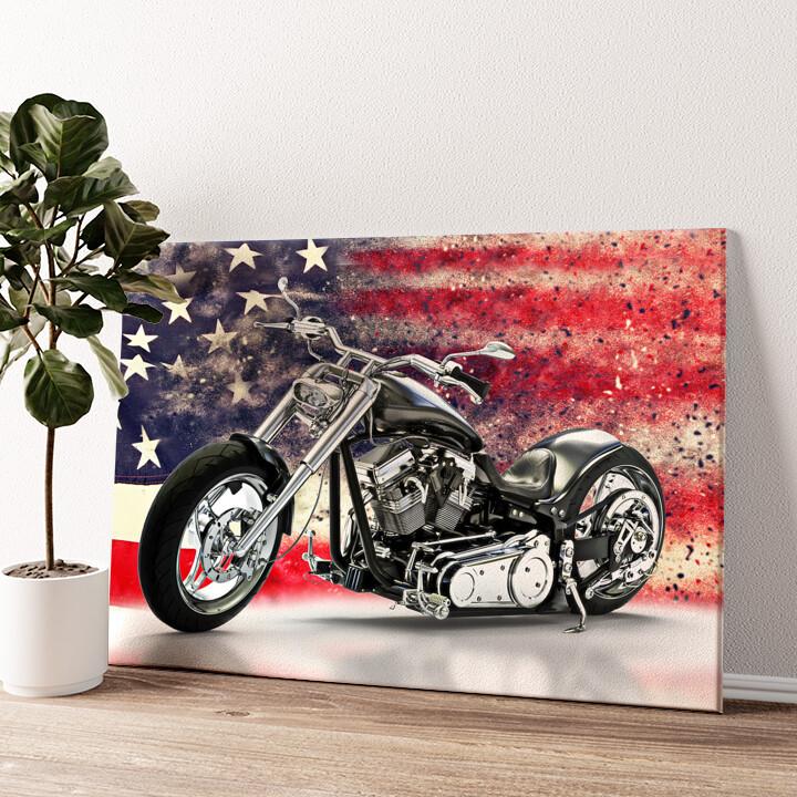 USA Chopper Wandbild personalisiert