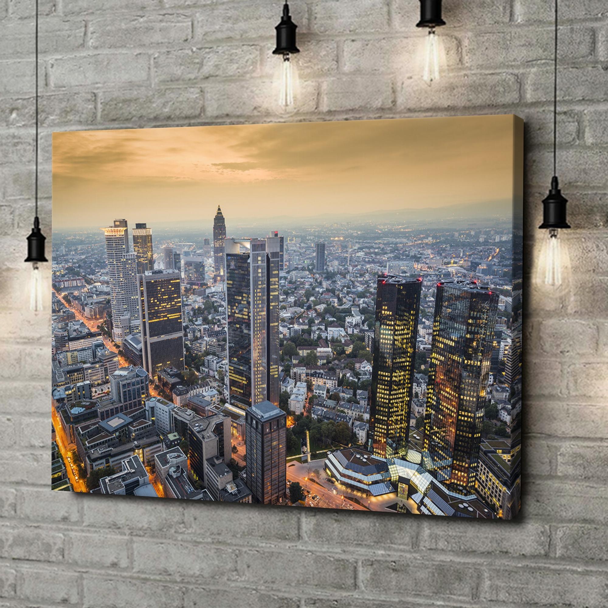 Leinwandbild personalisiert Skyline von Frankfurt