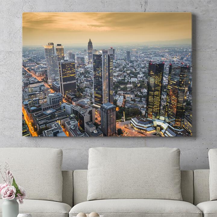 Personalisierbares Geschenk Skyline von Frankfurt