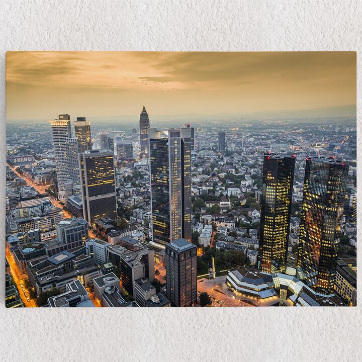 Personalisiertes Leinwandbild Skyline von Frankfurt