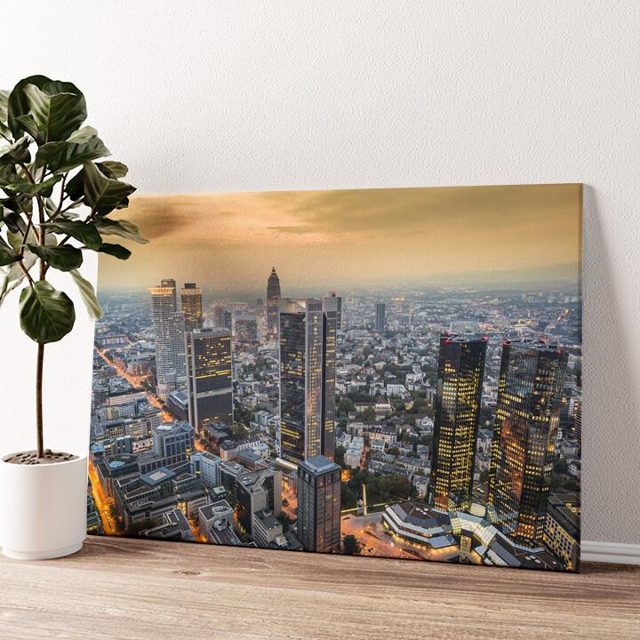 Skyline von Frankfurt Wandbild personalisiert