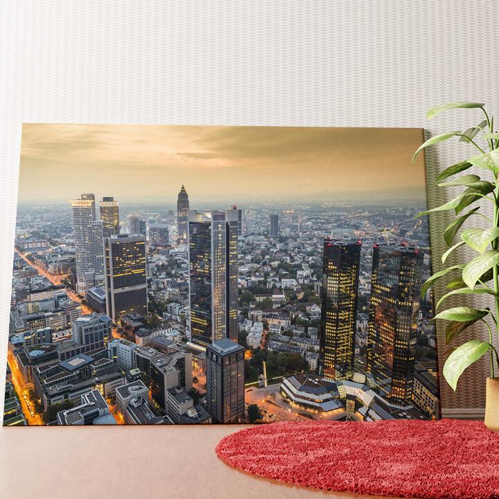 Personalisiertes Wandbild Skyline von Frankfurt