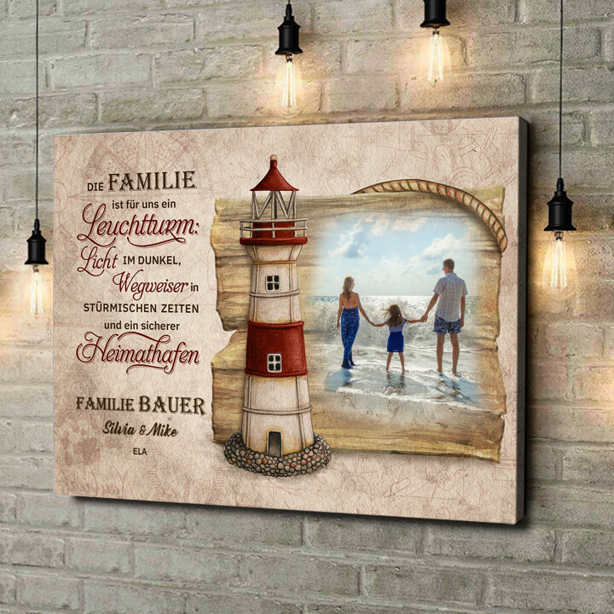 Leinwandbild personalisiert Sicherer Hafen