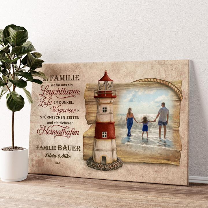 Sicherer Hafen Wandbild personalisiert