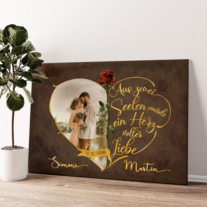Unzertrennliche Liebe Wandbild personalisiert