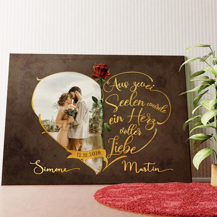 Personalisiertes Wandbild Unzertrennliche Liebe