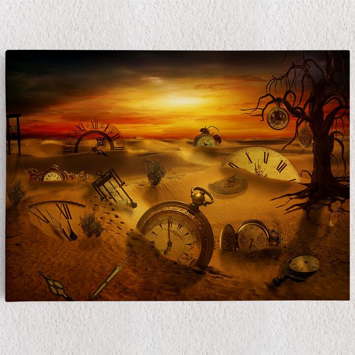 Personalisiertes Leinwandbild Fantasy Uhren