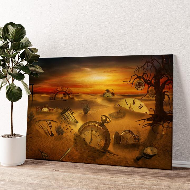 Fantasy Uhren Wandbild personalisiert