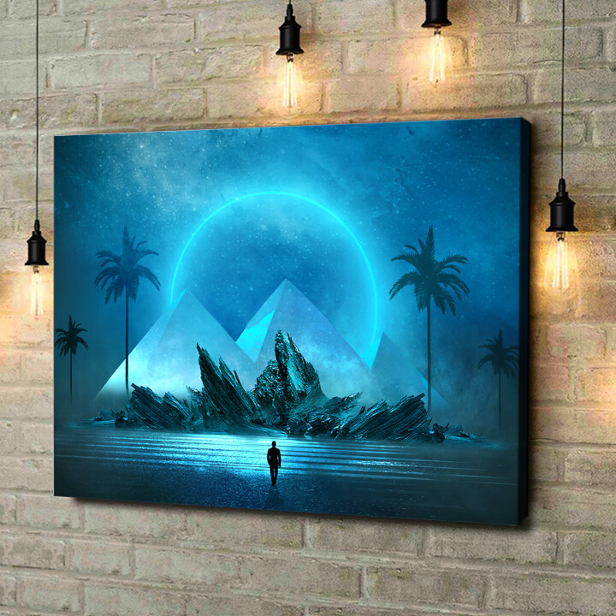 Leinwandbild personalisiert Fantasy Pyramiden