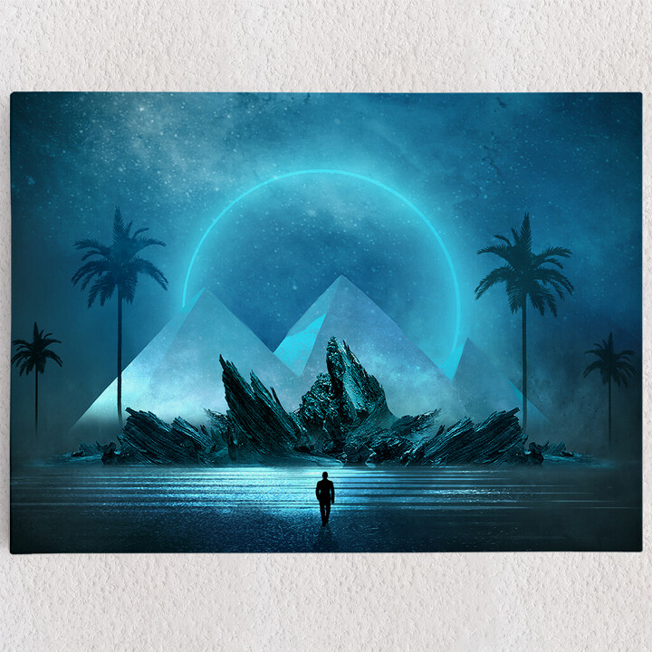 Personalisiertes Leinwandbild Fantasy Pyramiden
