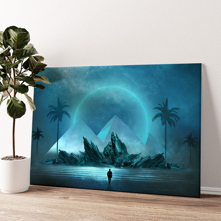 Fantasy Pyramiden Wandbild personalisiert
