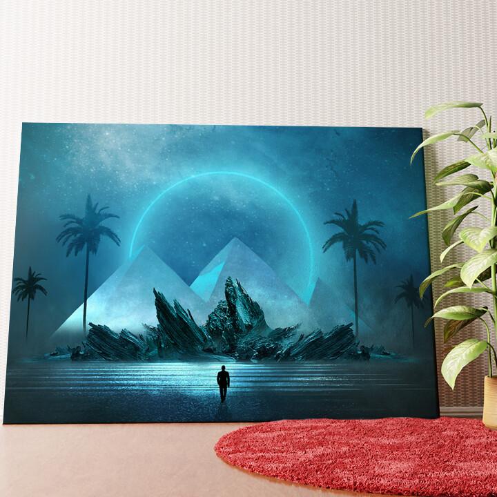 Personalisiertes Wandbild Fantasy Pyramiden