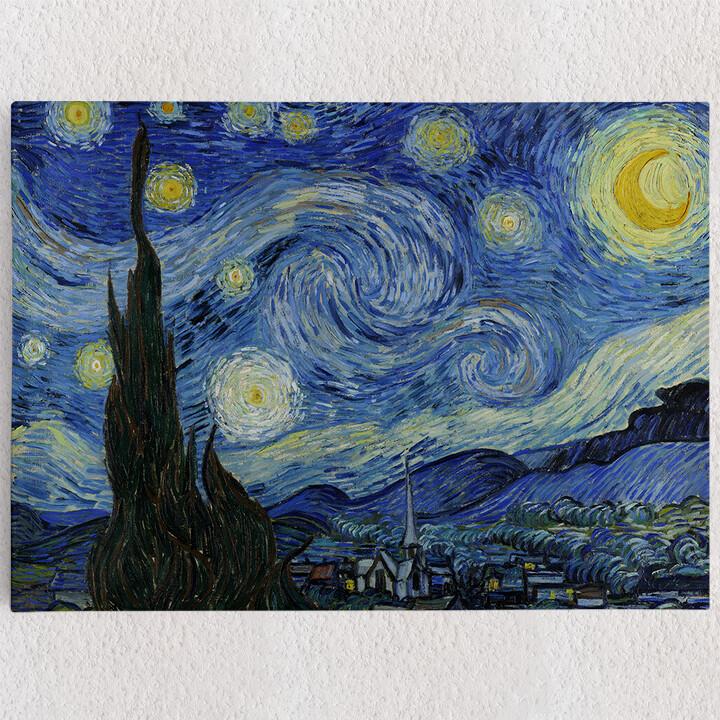 Personalisiertes Leinwandbild Sternennacht