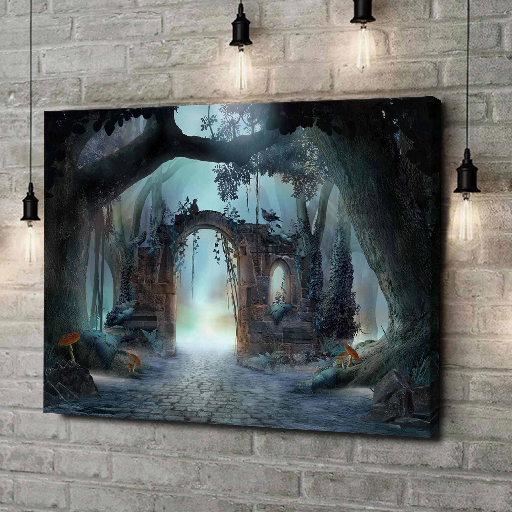 Leinwandbild personalisiert Fantasy Wald mit Torbogen