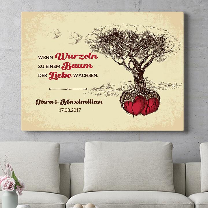 Personalisierbares Geschenk Baum der Liebe
