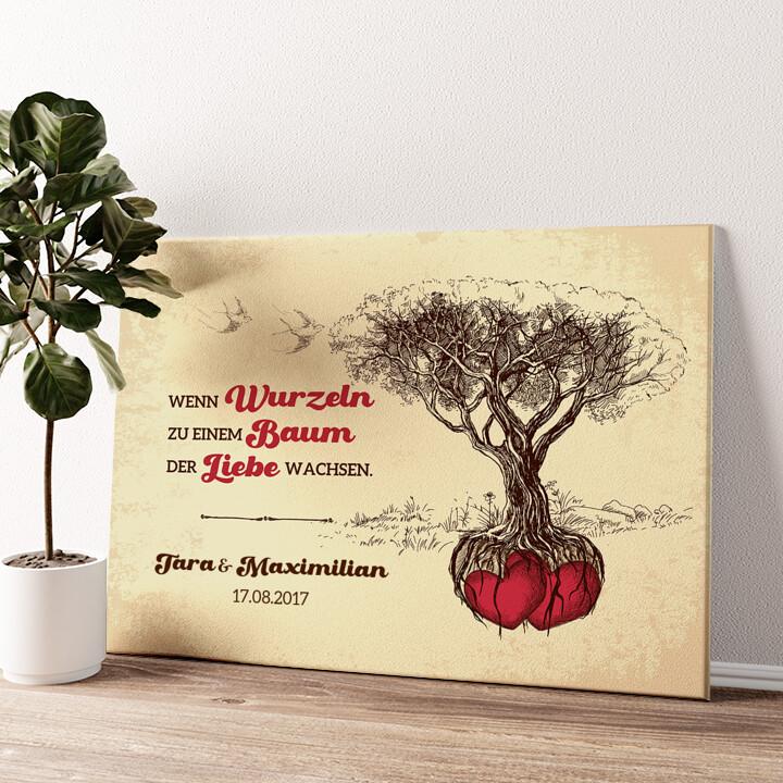 Baum der Liebe Wandbild personalisiert