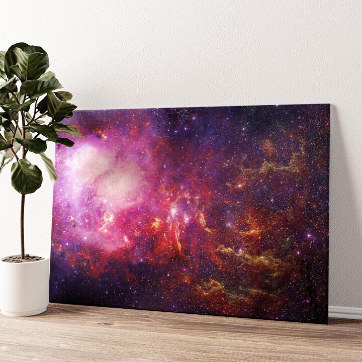 Galaxy Wandbild personalisiert