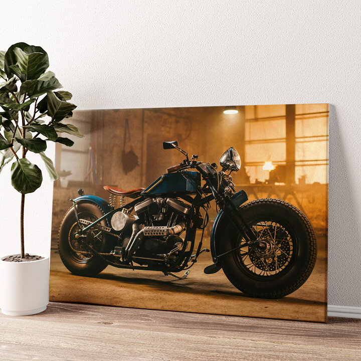 Custom Chopper Wandbild personalisiert