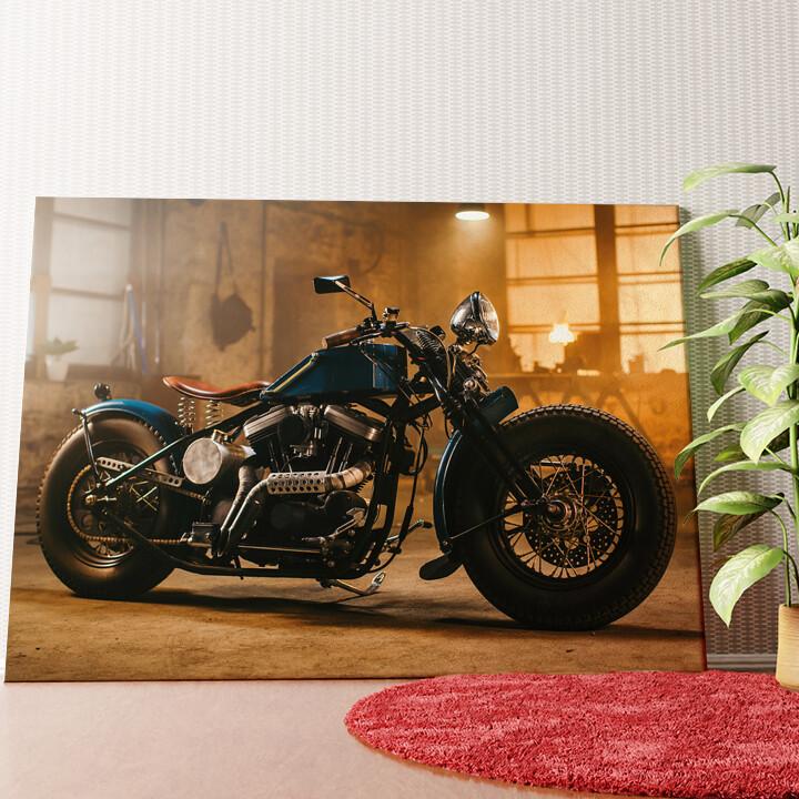Personalisiertes Wandbild Custom Chopper