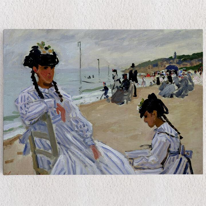 Personalisiertes Leinwandbild Am Strand in Trouville