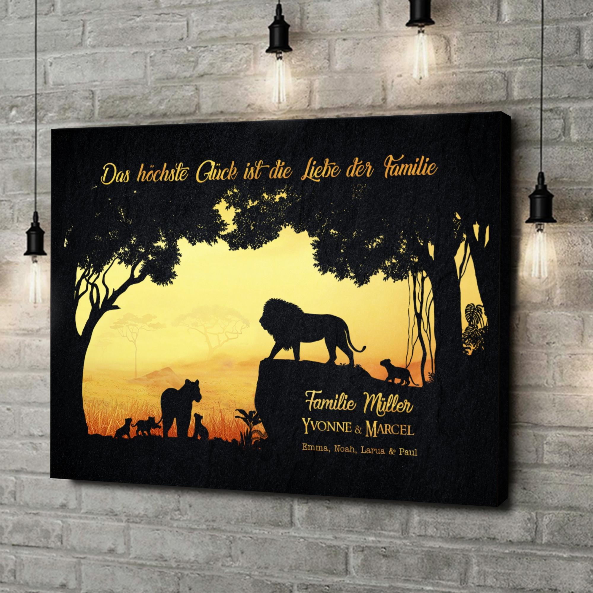 Leinwandbild personalisiert Könige des Dschungels