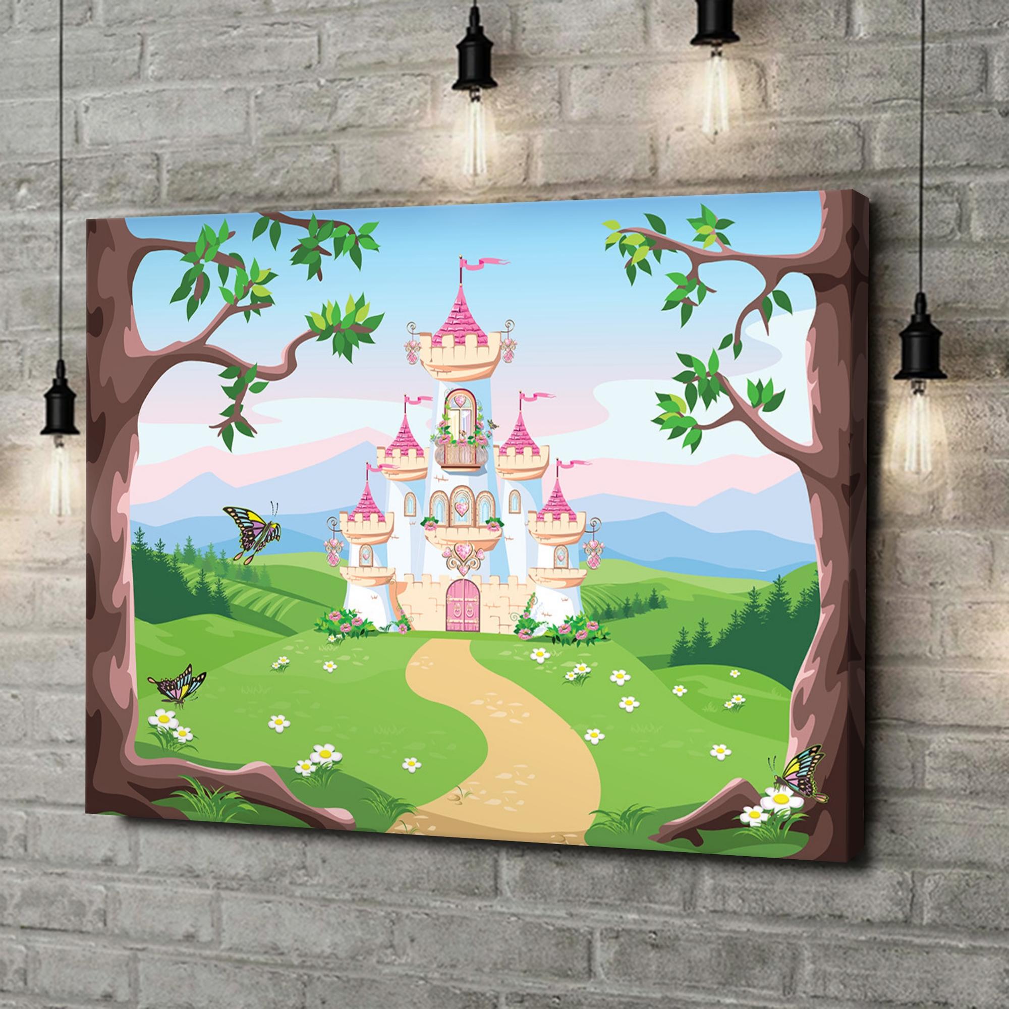Leinwandbild personalisiert Märchenschloss