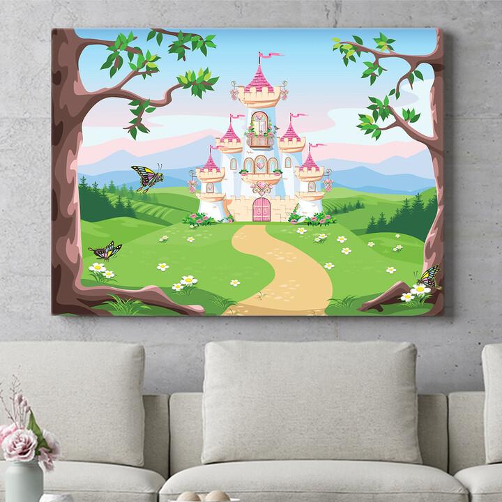 Personalisierbares Geschenk Märchenschloss