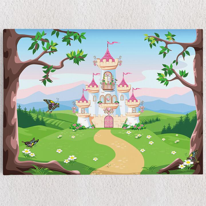 Personalisiertes Leinwandbild Märchenschloss