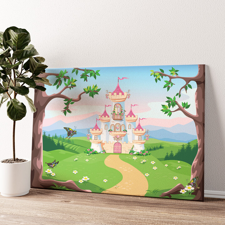 Märchenschloss Wandbild personalisiert