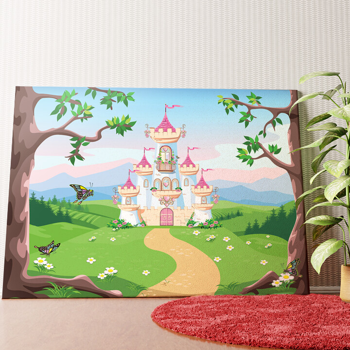 Personalisiertes Wandbild Märchenschloss