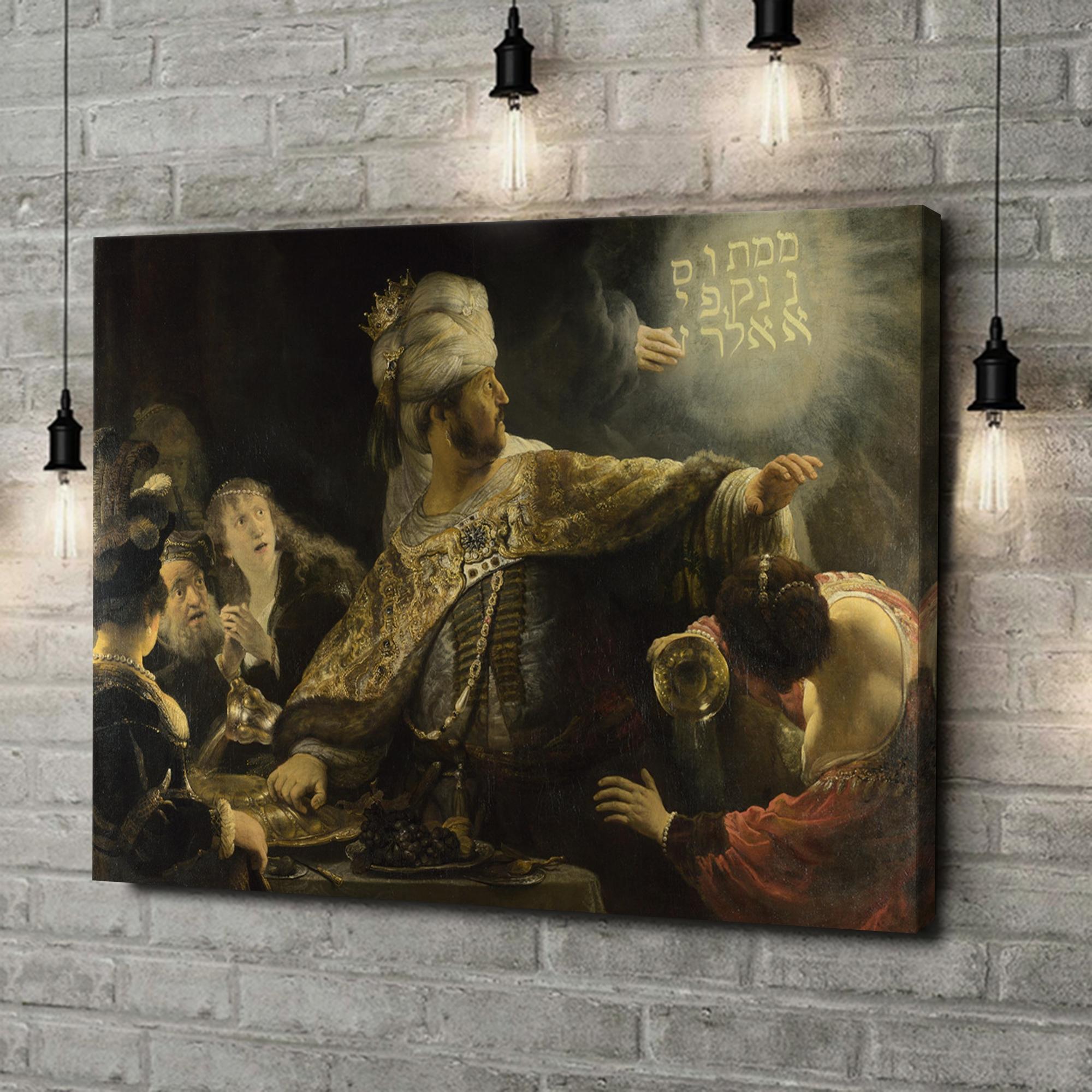 Leinwandbild personalisiert Das Gastmahl des Belsazar
