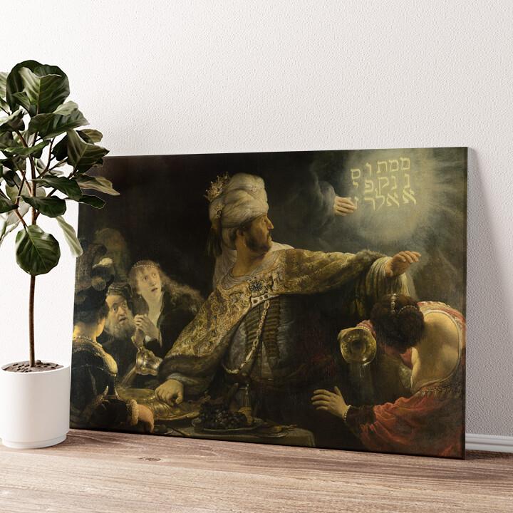 Das Gastmahl des Belsazar Wandbild personalisiert