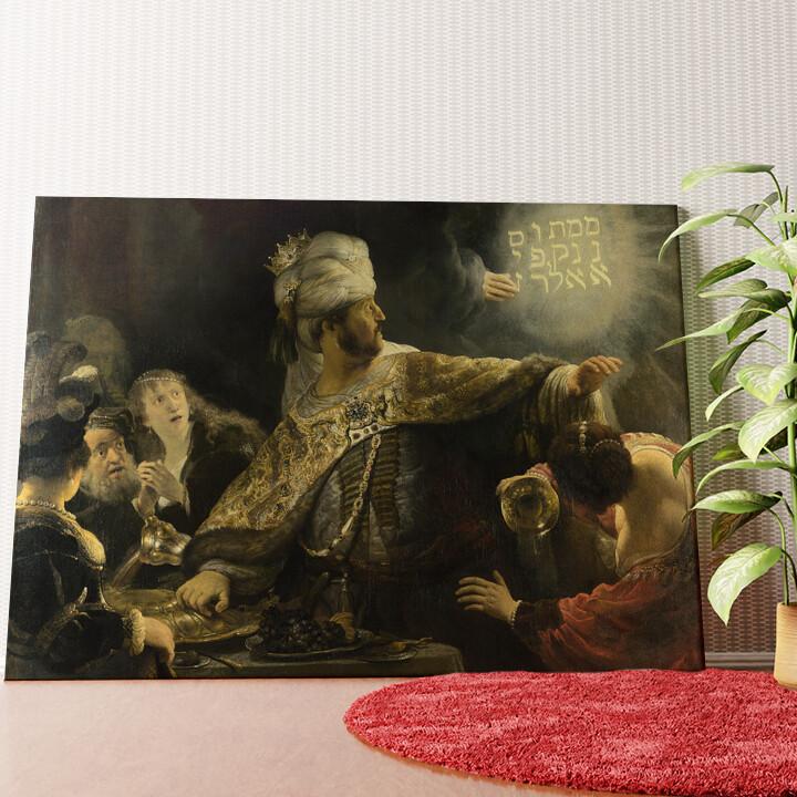 Personalisiertes Wandbild Das Gastmahl des Belsazar