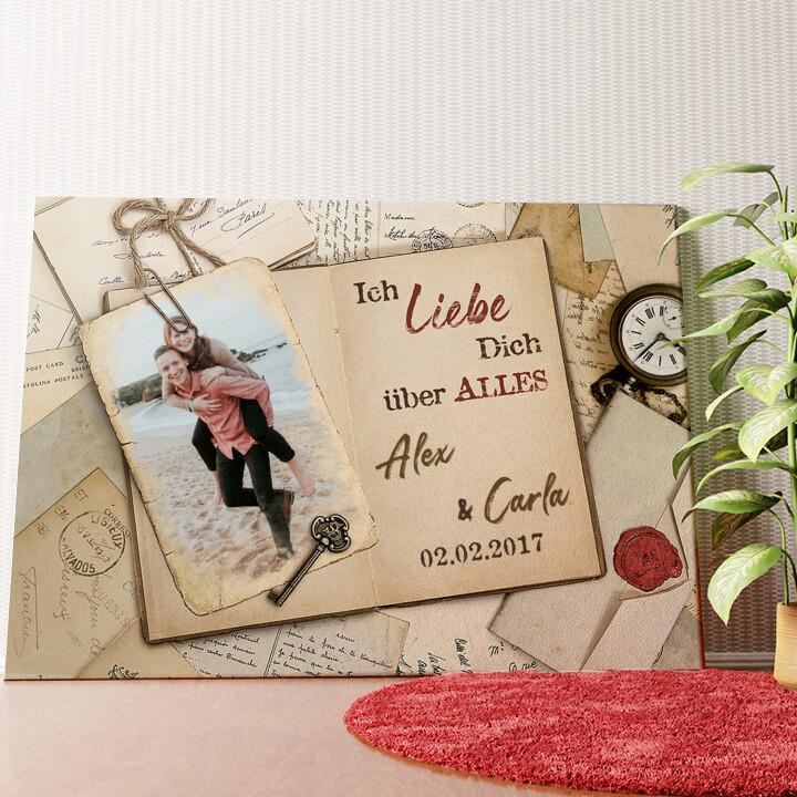 Personalisiertes Wandbild Geschichten der Liebe