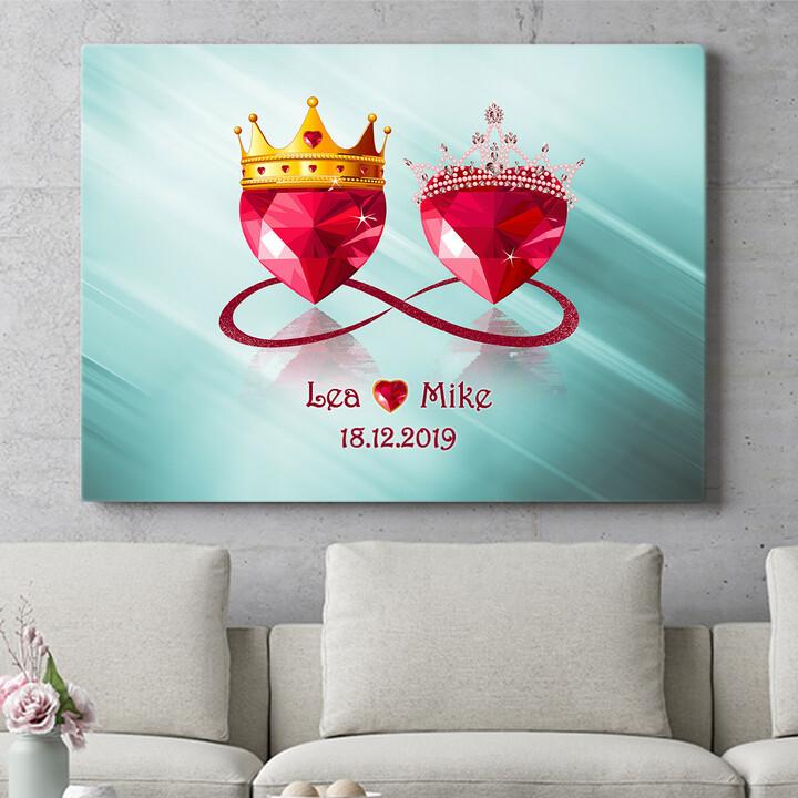 Personalisierbares Geschenk Royale Liebe