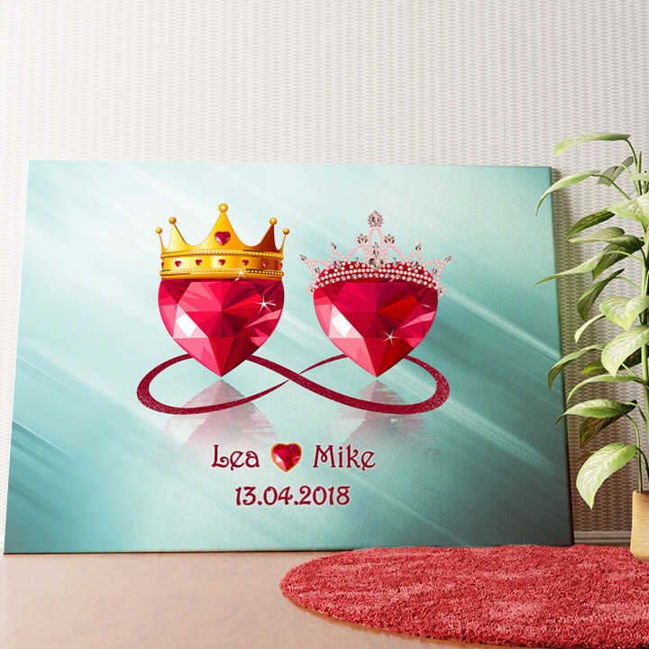Personalisiertes Wandbild Royale Liebe