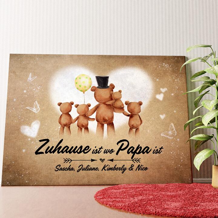 Personalisiertes Wandbild Teddypapa