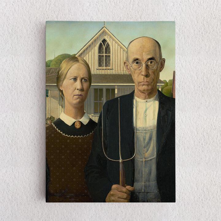 Personalisiertes Leinwandbild American Gothic
