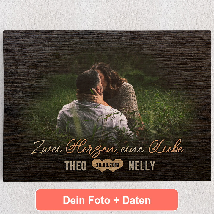 Personalisiertes Leinwandbild Liebespaar