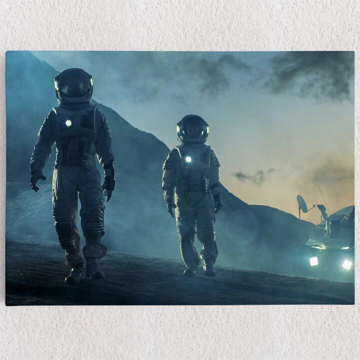Personalisiertes Leinwandbild Weltraummission