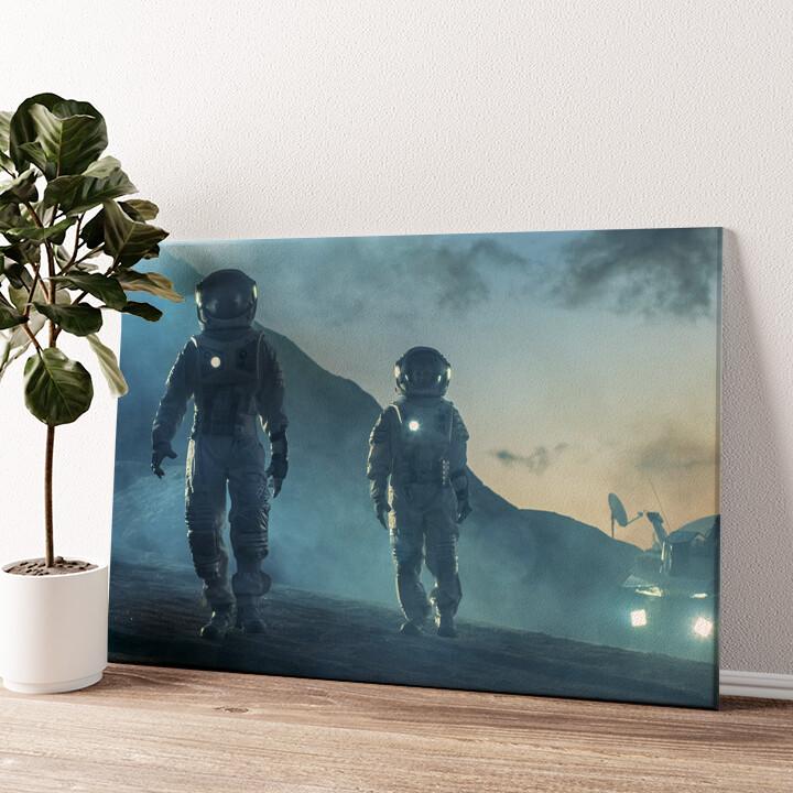 Weltraummission Wandbild personalisiert