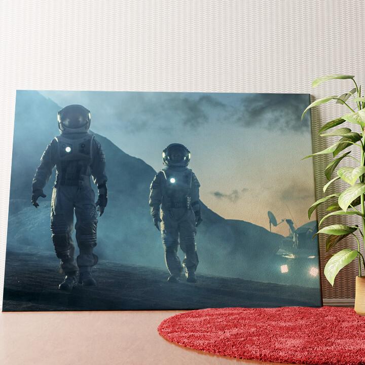 Personalisiertes Wandbild Weltraummission