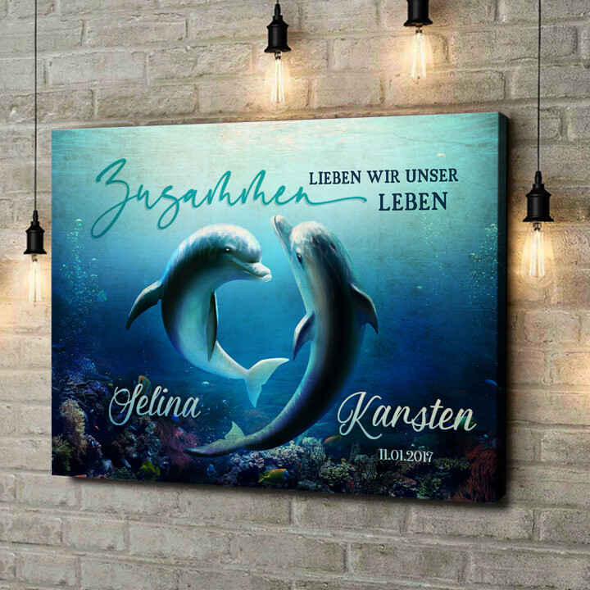 Leinwandbild personalisiert Ozean aus Liebe