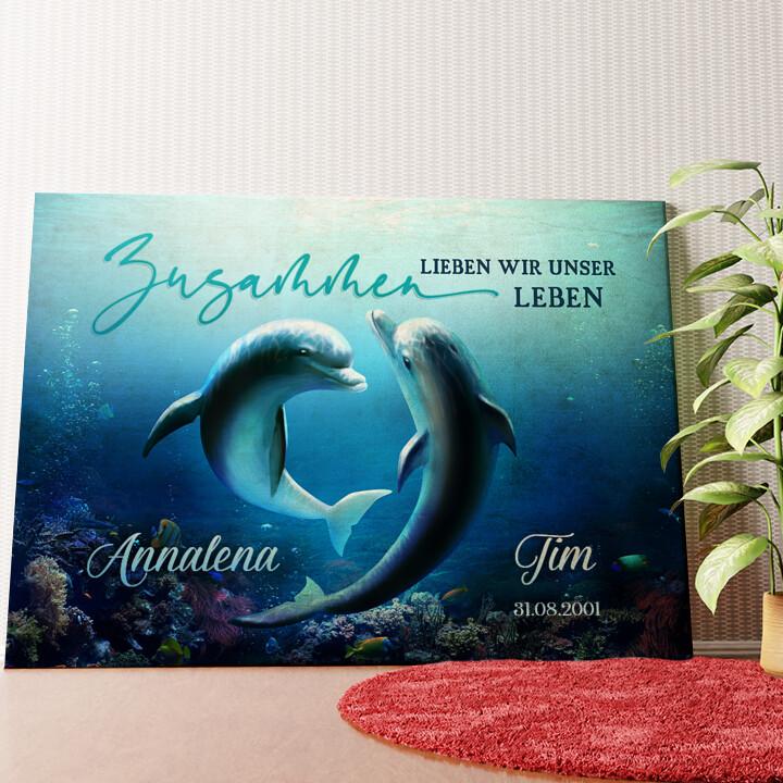 Personalisiertes Wandbild Ozean aus Liebe