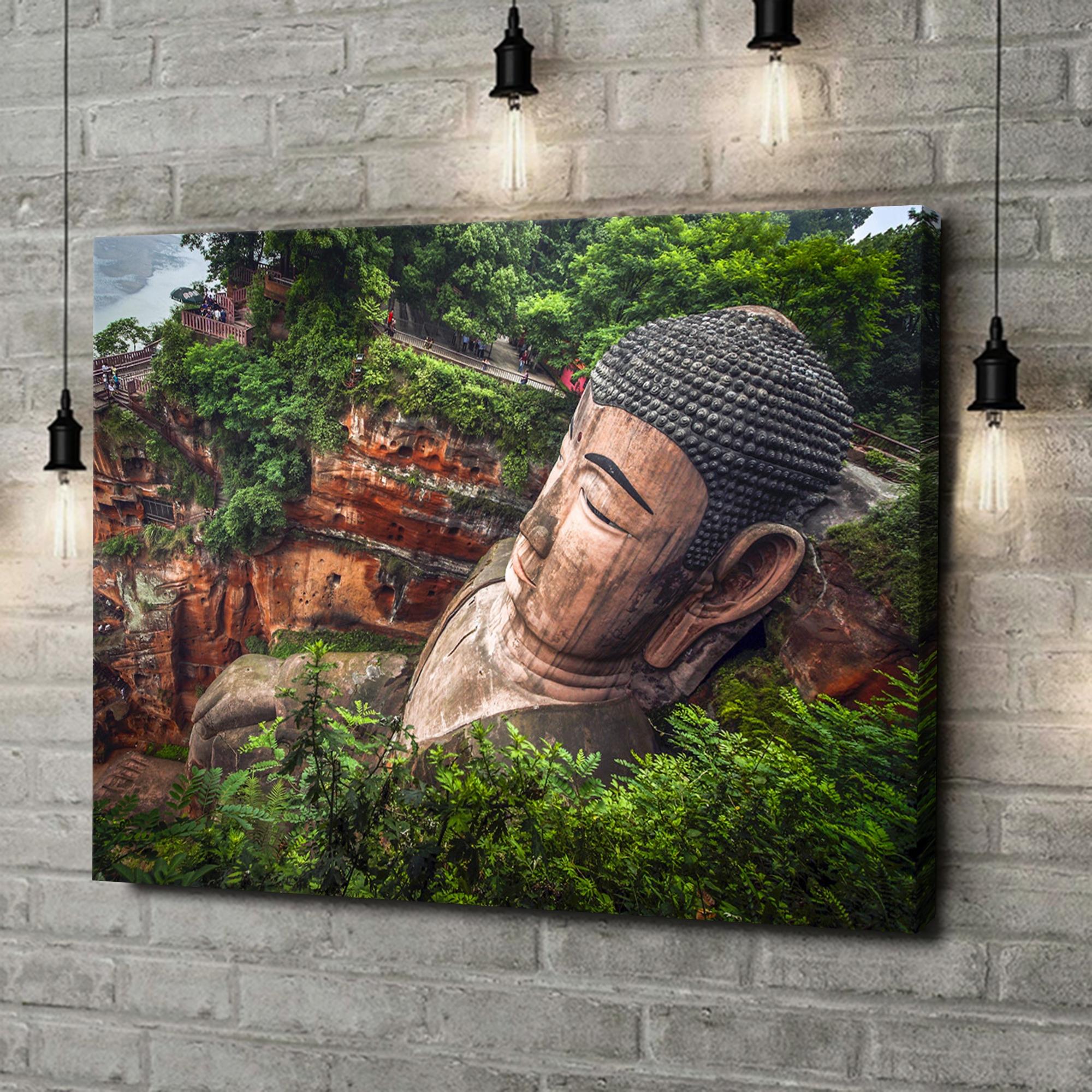 Leinwandbild personalisiert Buddha Statur Leshan China