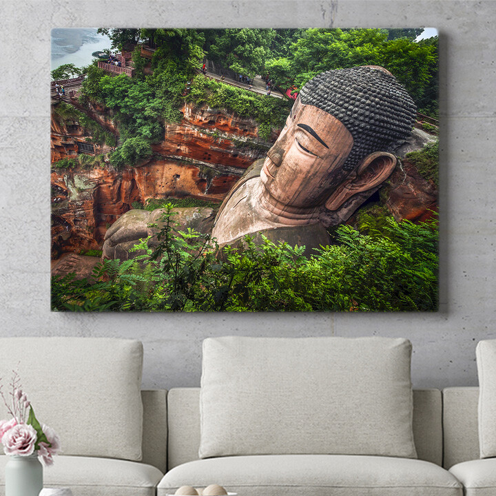 Personalisierbares Geschenk Buddha Statur Leshan China